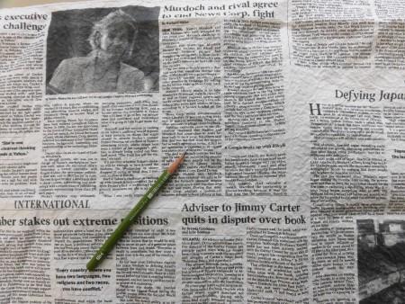 NewsPaper print made by WASHI-fabric